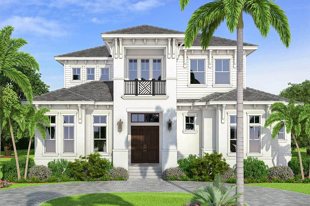 Front rendering of the two-story 4-bedroom Southern home.