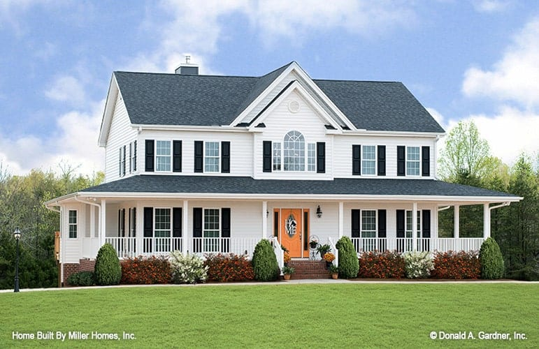 Two-Story 4-Bedroom The Riverbend Farmhouse with Wrap Around Porch