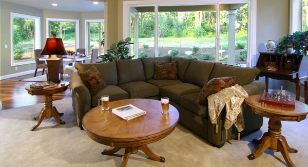 Massive and bay windows in the family room and breakfast nook bring in an ample amount of natural light.