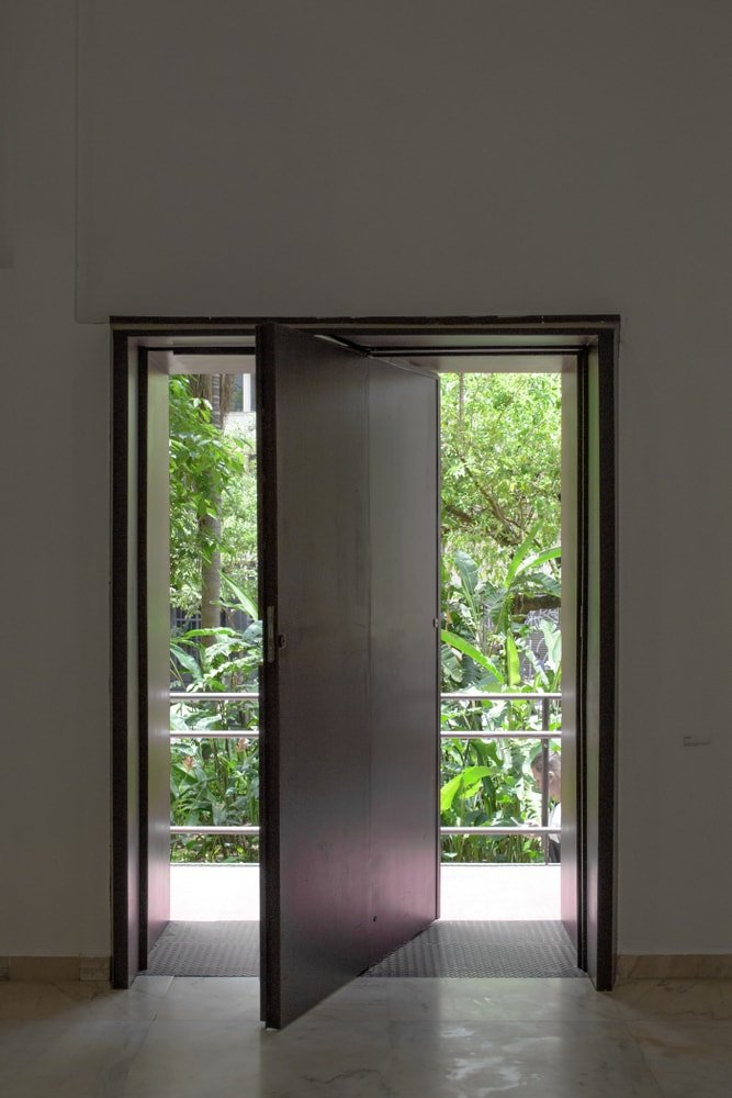 This is a look at the set of pivot doors.