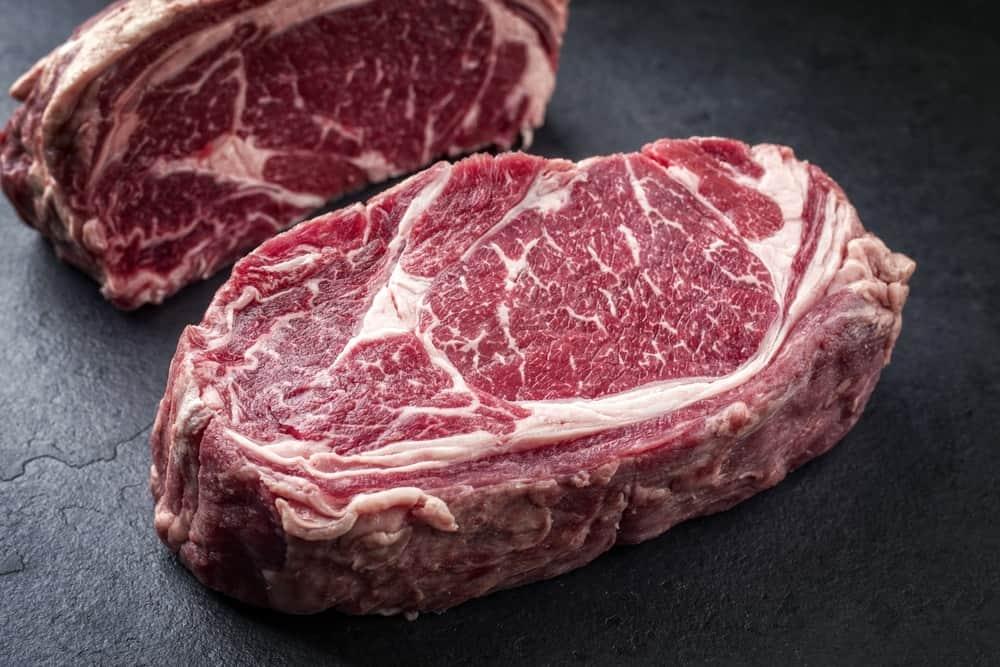 Wagyu rib eye steaks