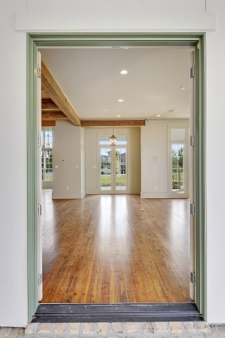 The french door at the far end is used as the main door.