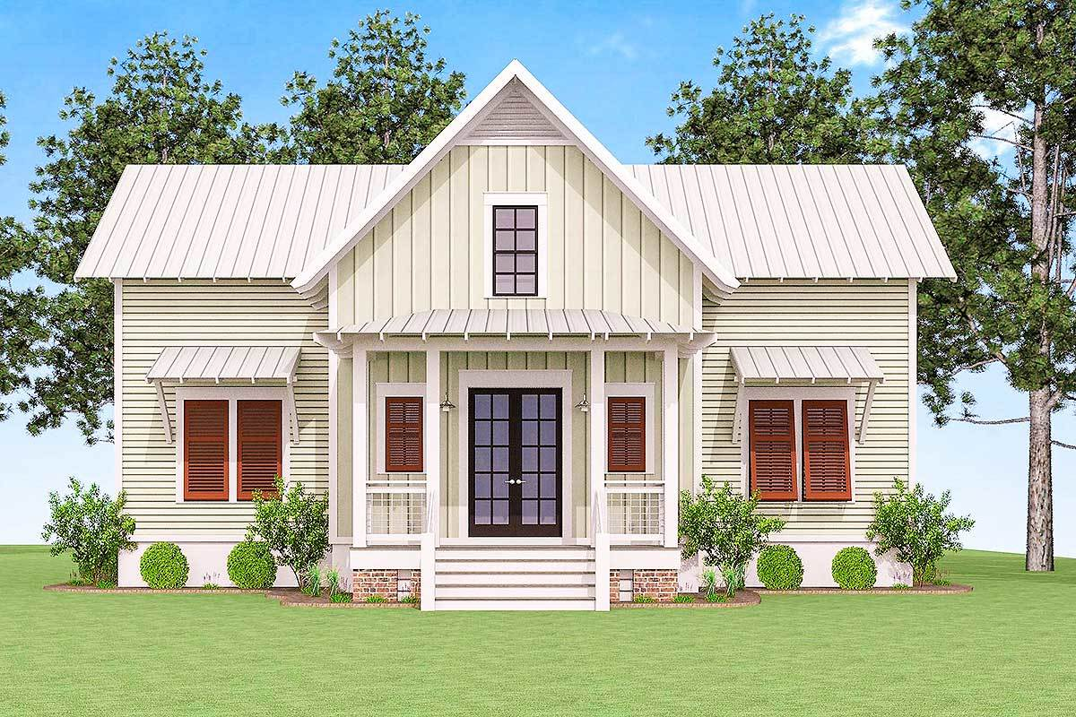 Front rendering of the 3-bedroom two-story cottage.