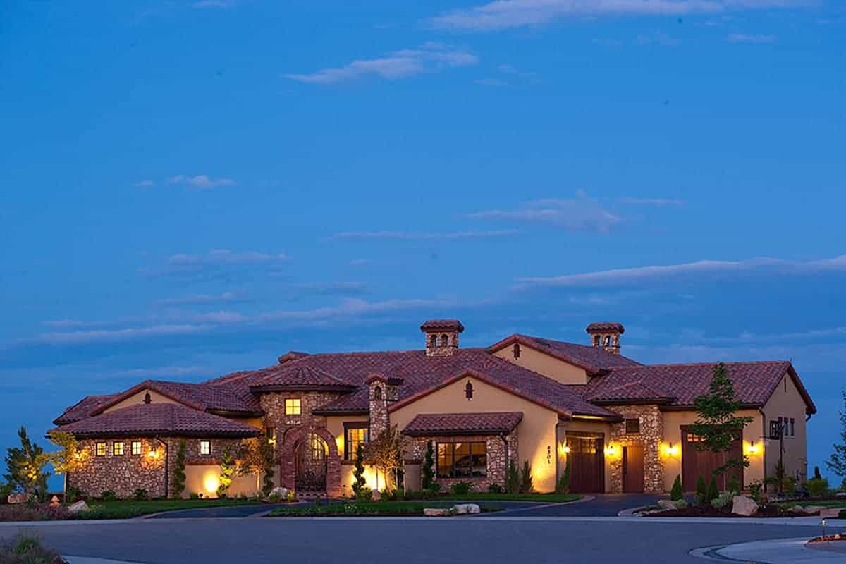 4-Bedroom Single-Story Spanish Style Home