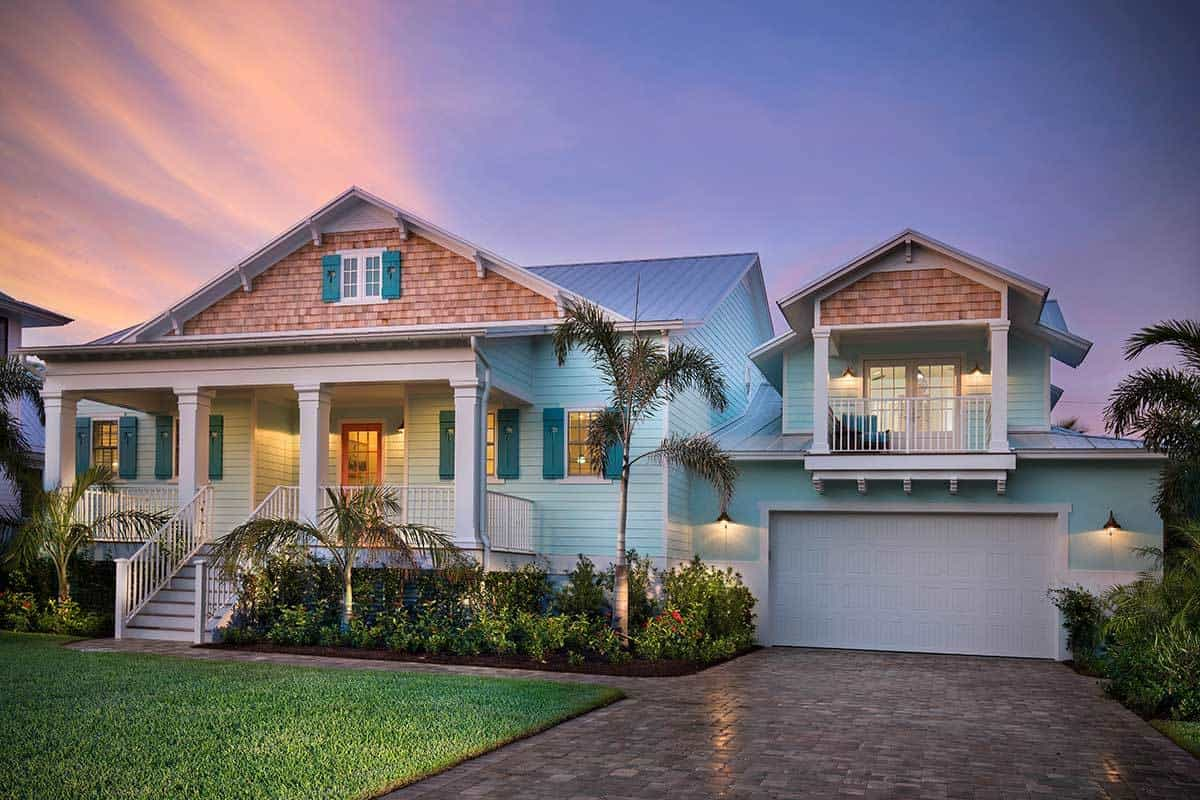 4-Bedroom Two-Story Beach Home with 2-Car Garage
