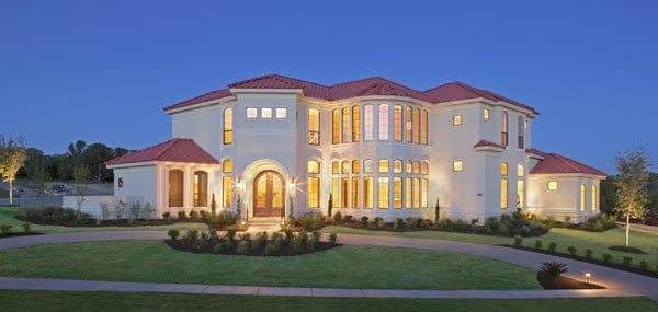 4-Bedroom Two-Story Mediterranean Style The Austin Home with Three-Car Garage