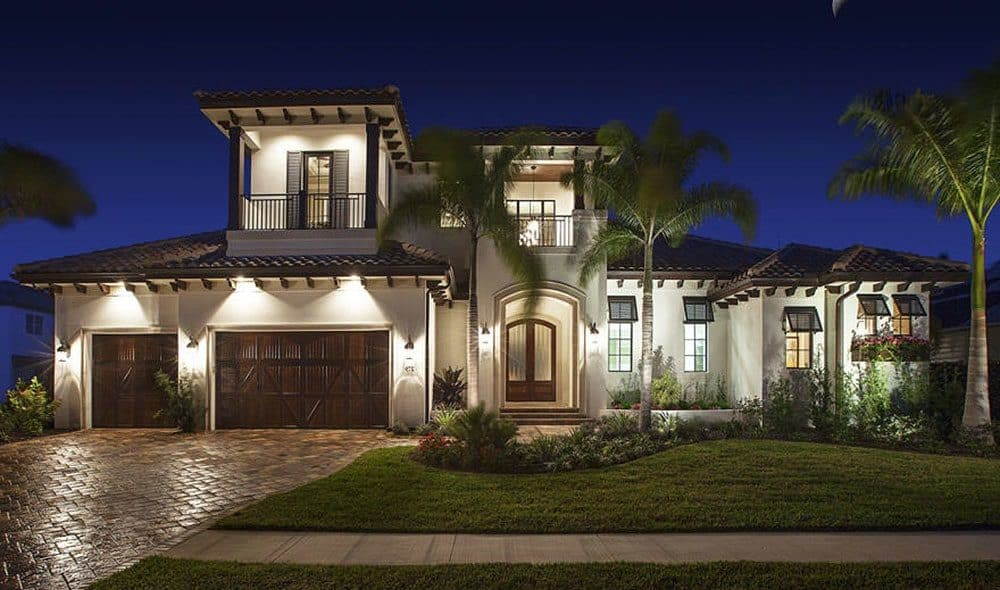 4-Bedroom Two-Story Spanish Home with Balconies