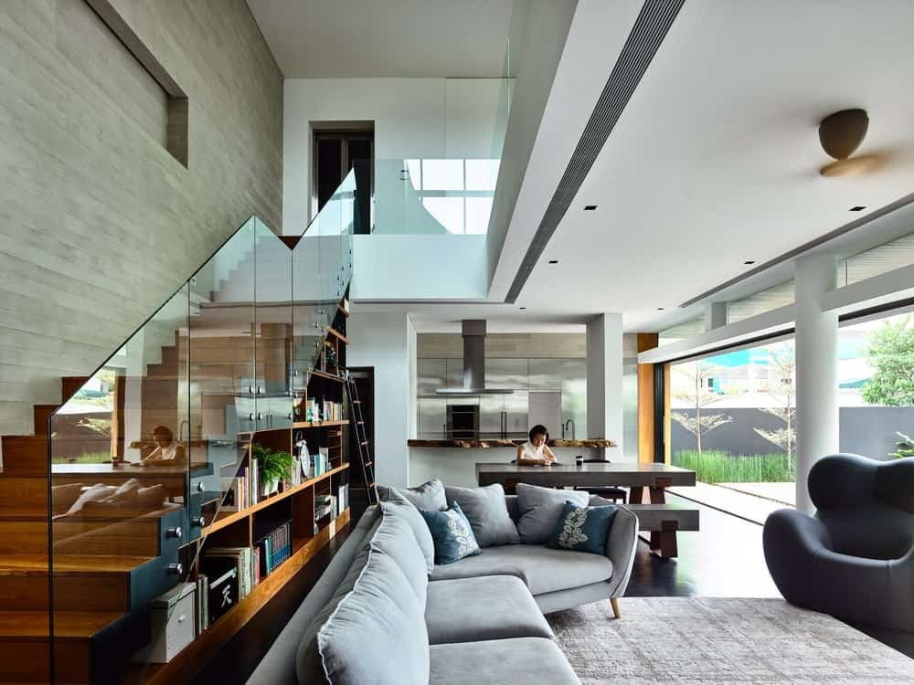 Interior of 9JW-House by ONG&ONG.