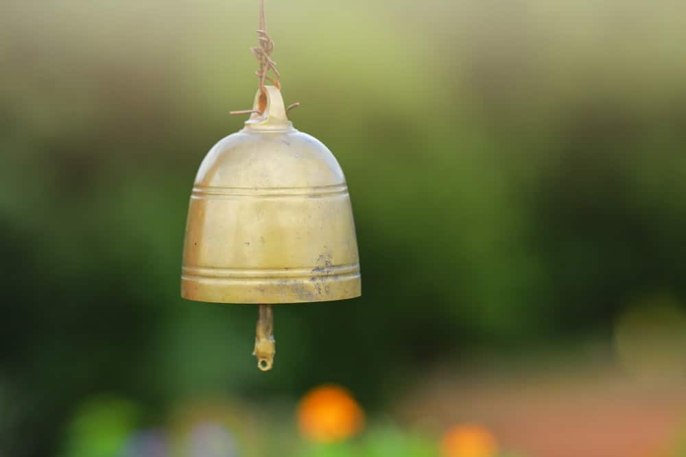 Bell made out of metal.