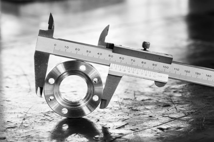 Caliper measuring the outside diameter