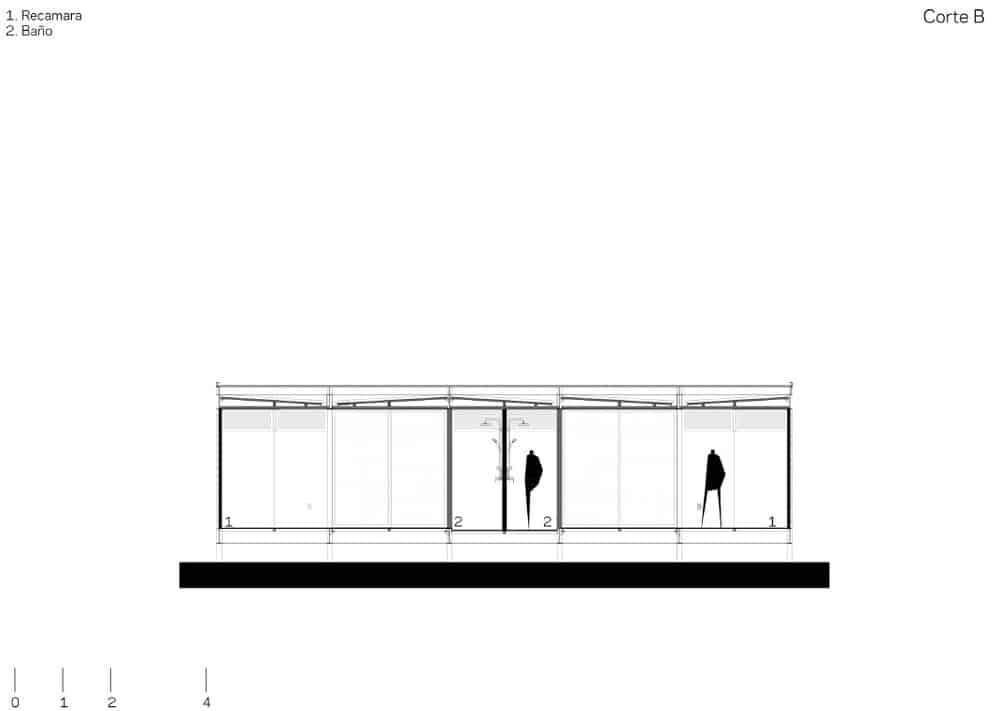 This is an illustration of the side of the house showcasing the door and exterior walls of that park of the house.