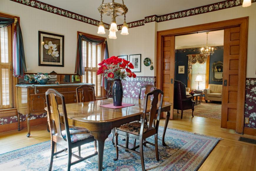 double pocket doors in dining room