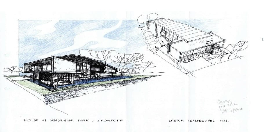 This is an illustrative representation of the house showcasing its designs.