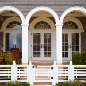 French doors leading to a porch