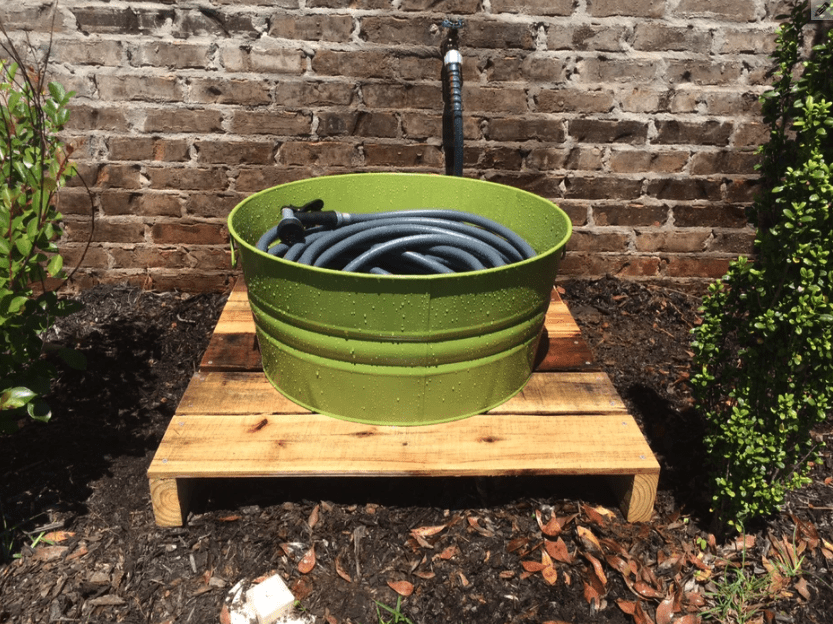 DIY garden hose holder