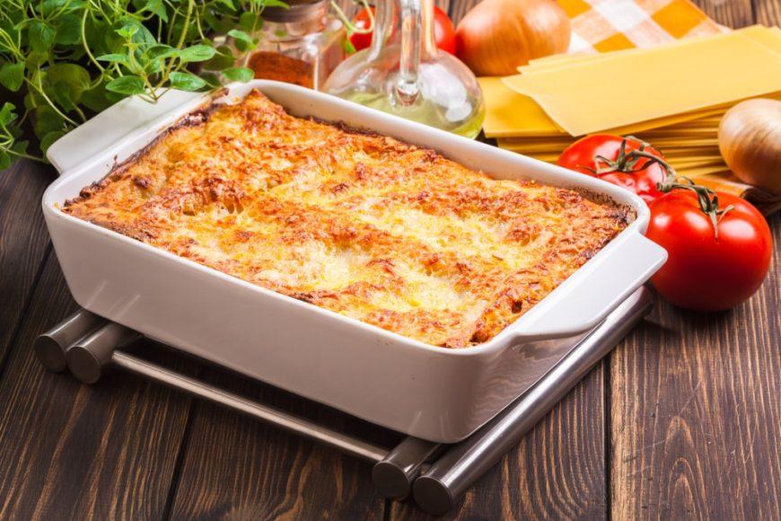 A batch of freshly-made Italian casserole.