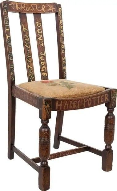 JK Rowling's Harry Potter chair
