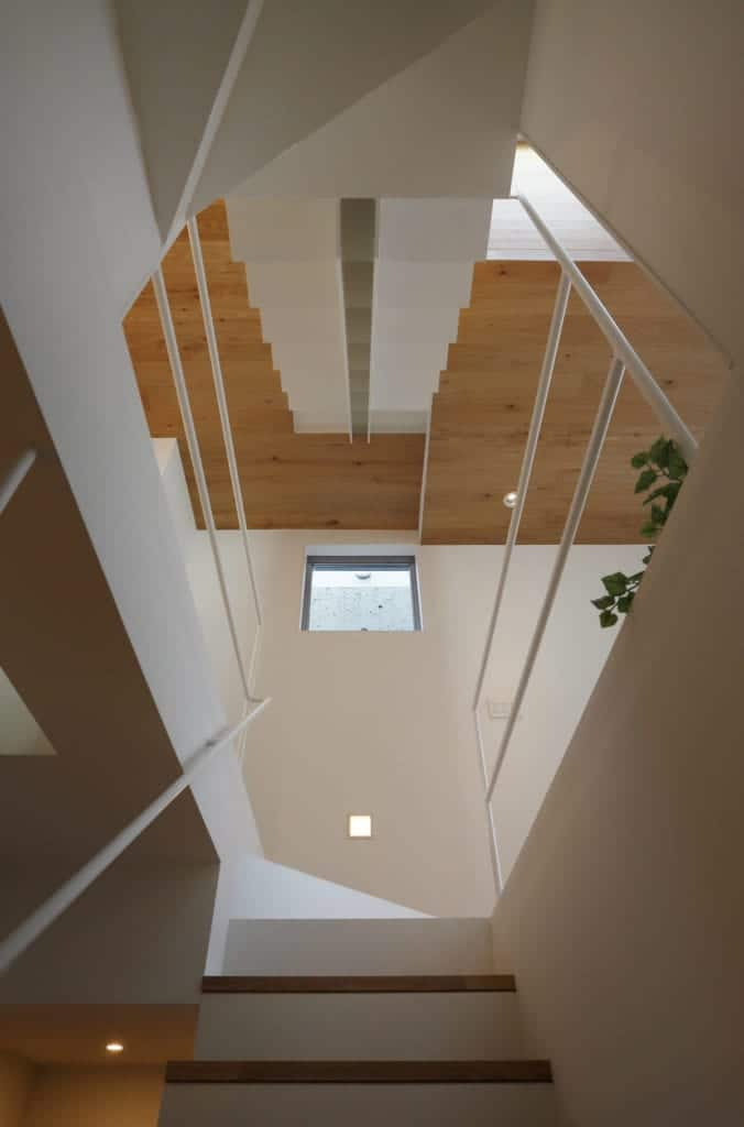 This is a look at the higher floors of the house from the vantage of the ground floor staircase.