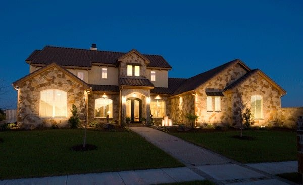 Two-Story 3-Bedroom Tuscan Style The Piacenza Home with Courtyard