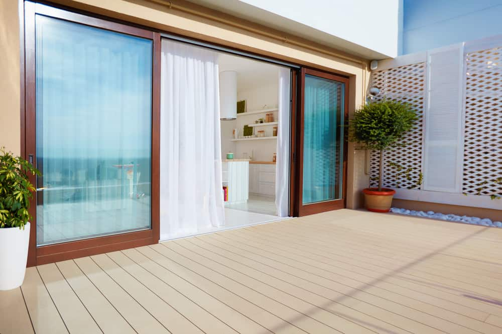 Sliding doors onto a deck