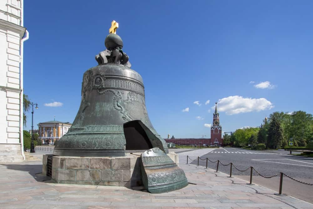 The Tsar Bell on display in Russia.