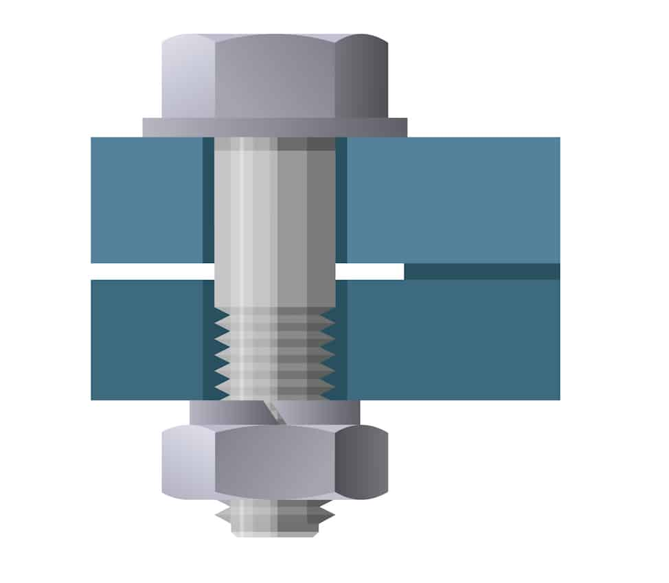 tightening hex bolt illustration