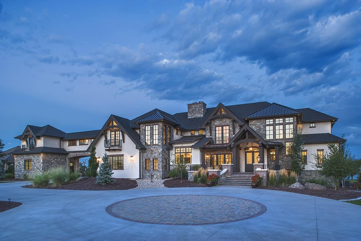 Two-Story 6-Bedroom Craftsman Home with Balconies