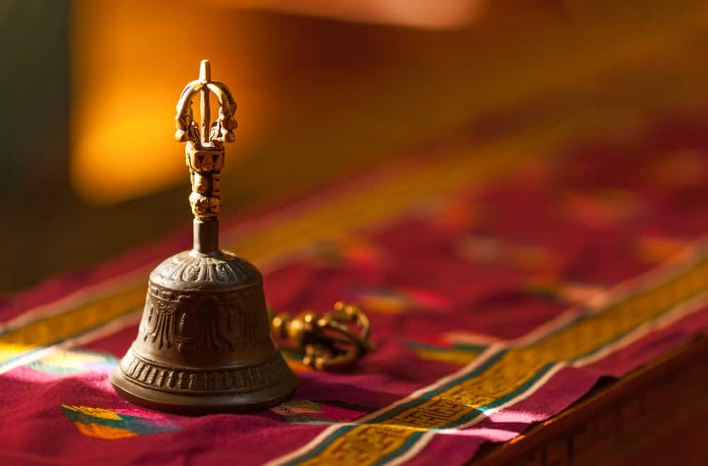 Antique bell used mainly for religious purposes.