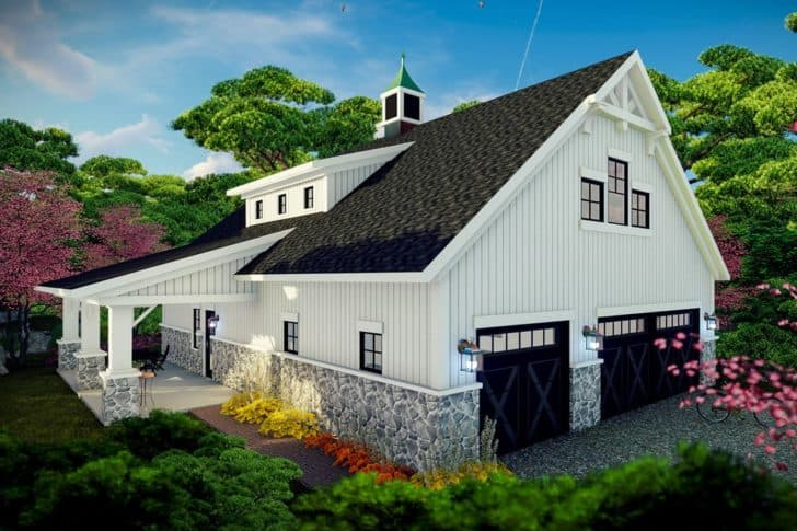 Farmhouse style barndominium