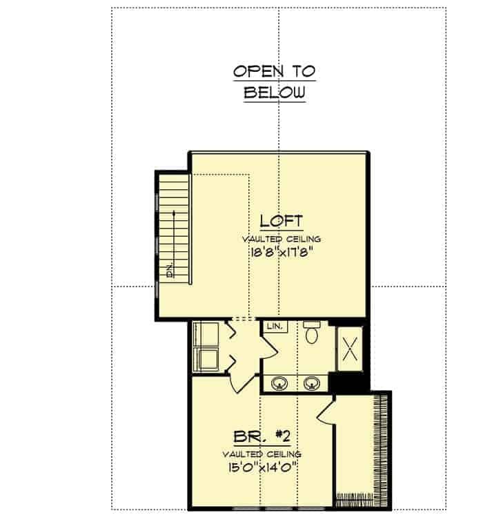 Loft bedroom of barndominium