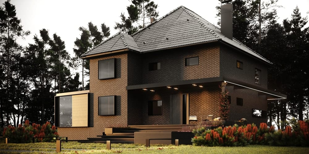 A Stunning Brown Brickhouse by Studio HD-m2