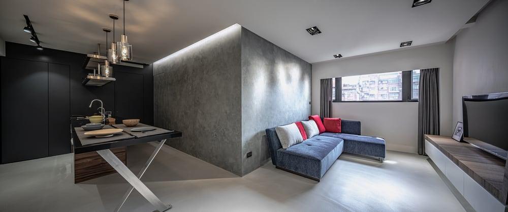 Living interior of Da An House by H.A. DESIGN