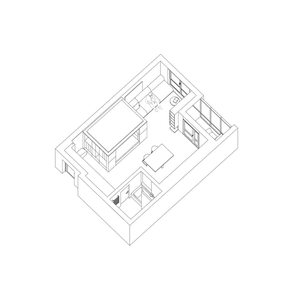 This is an illustration of the floor plan of the house showcasing the various sections.