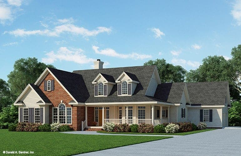 4-Bedroom Single-Story The Wisteria Traditional Home with Wraparound Porch and Bonus Room