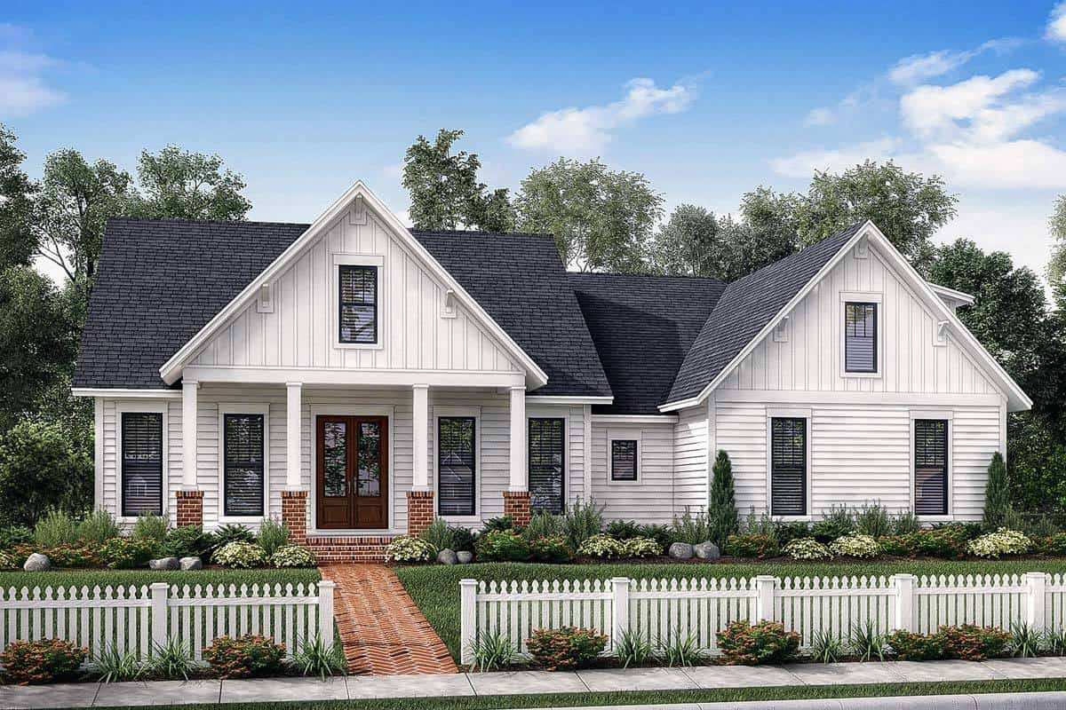 4-Bedroom Two-Story Farmhouse with Bonus Room and Side Load Garage