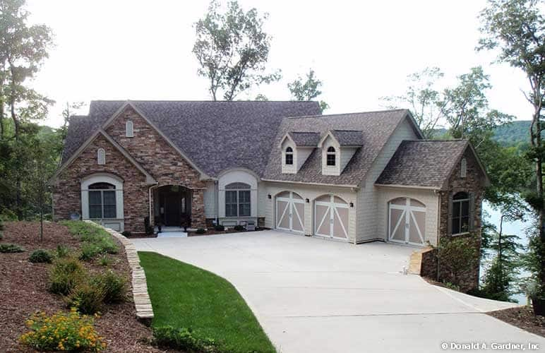 4-Bedroom Two-Story The Touchstone European Home for Sloping Lot