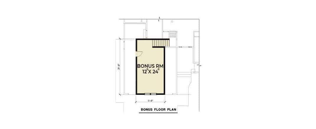 Bonus room floor plan