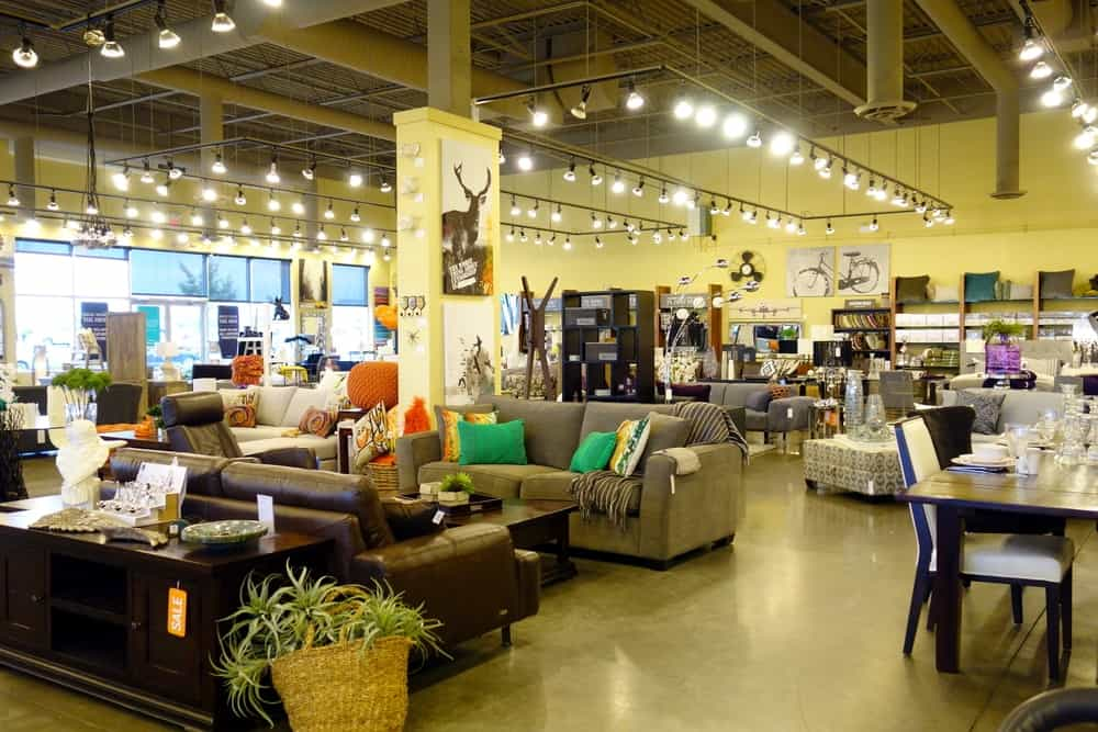 A look at the interior of a furniture store that features a variety of furniture for the different sections of the house.