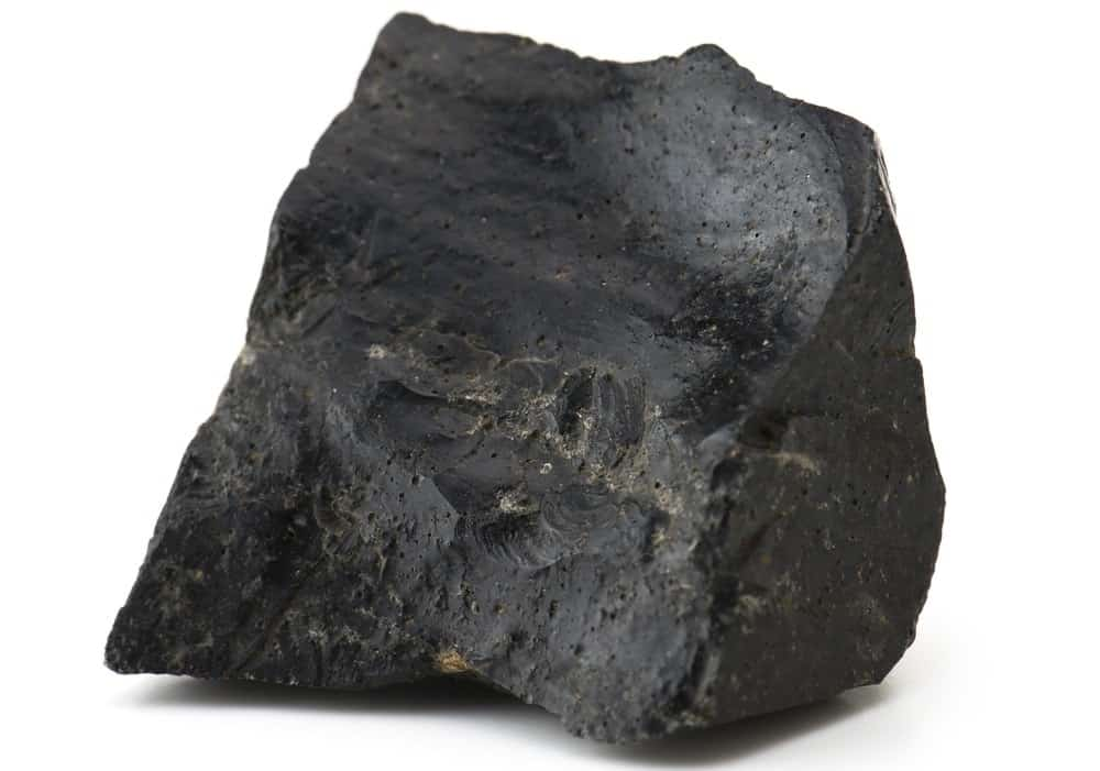 A large piece of obsidian ore.