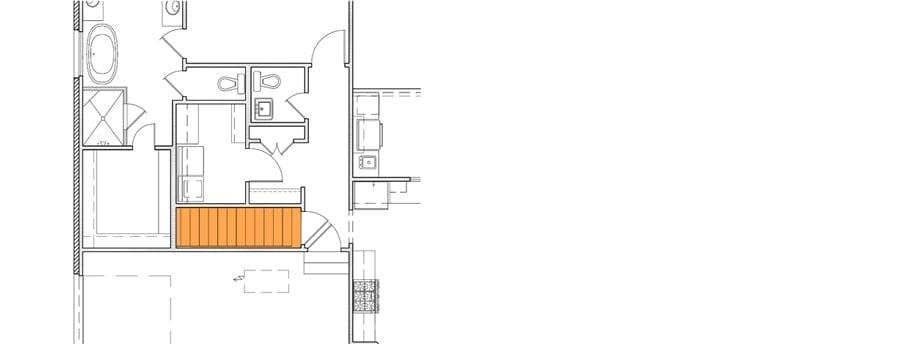 Optional basement stairs