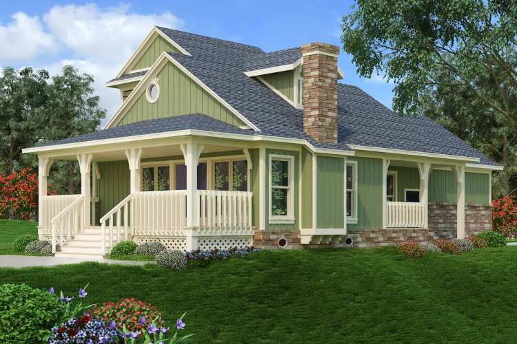 Single-Story 2-Bedroom Dell Wood Cottage with a Loft