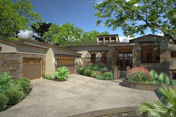 Single-Story 3-Bedroom Contemporary Style Santa Catalina Home for Corner Lot