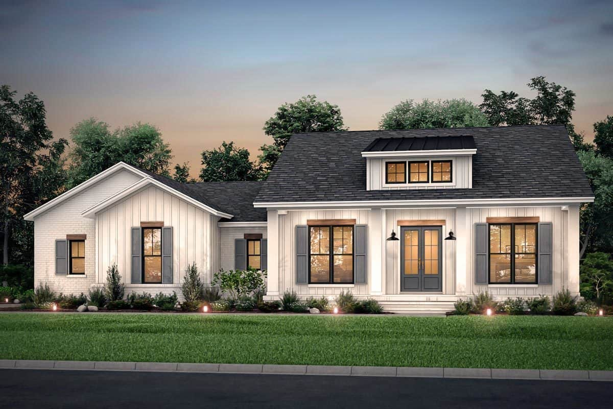 Single-Story 3-Bedroom Country Craftsman with Double Garage