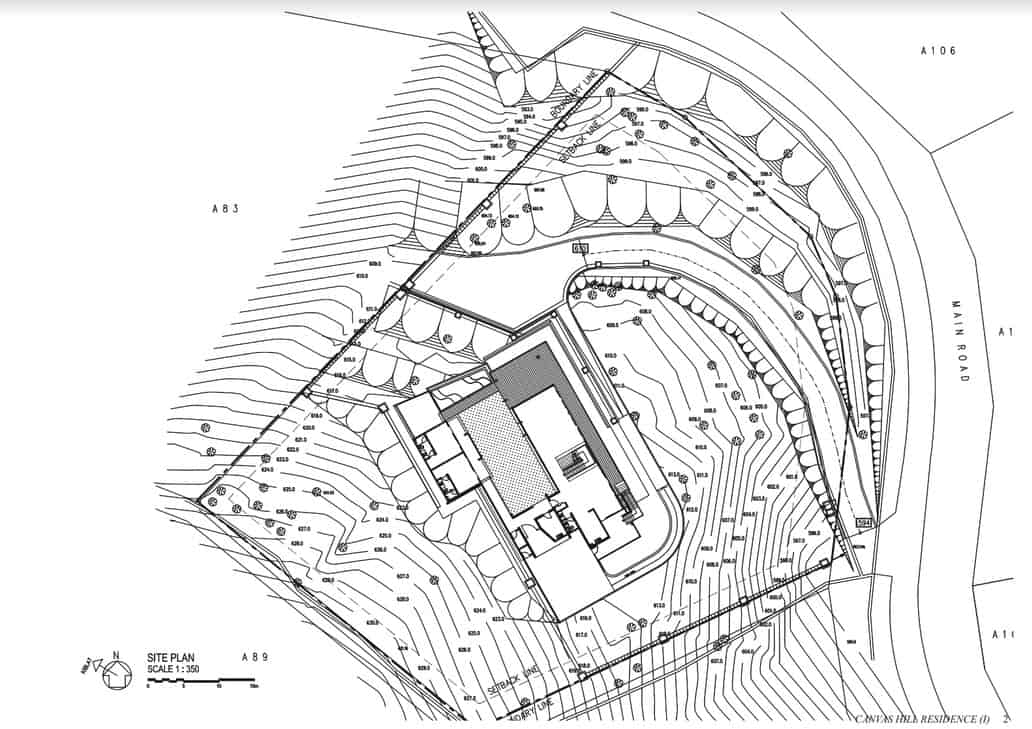 This is an illustration of the site plan showcasing the whole property.