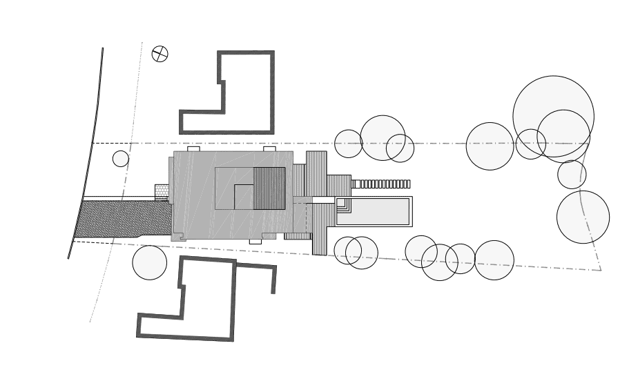 This is an illustration of the site plan of the whole property showcasing the lot and the house..