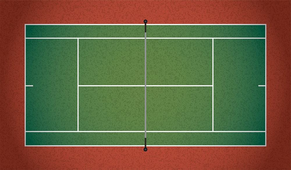 This is an illustration of a tennis court.