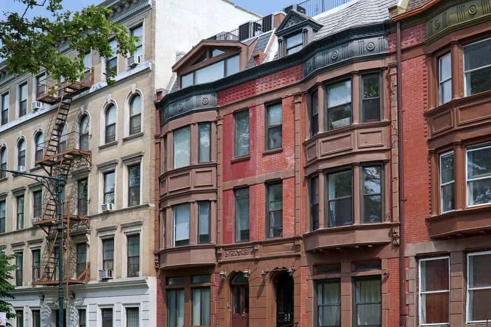 A close look at apartment buildings.