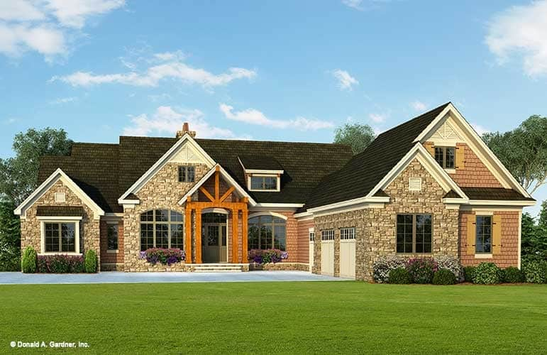 Two-Story 3-Bedroom Craftsman Style The Henningridge Home for Sloping Lot