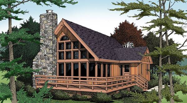 Front rendering of the two-story 3-bedroom IRIS beach home.