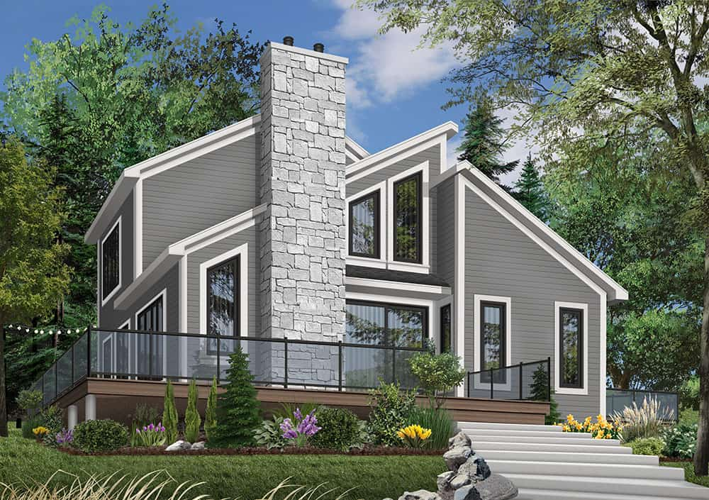 Two-Story 3-Bedroom The Interlock Cottage for Sloping Lot
